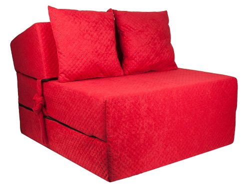 Red Rose Twin Size Chair Folding Foam Bed