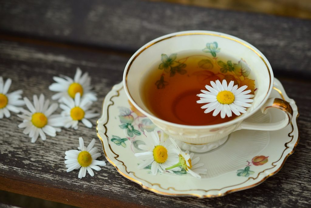 Consume a cup of chamomile tea.
