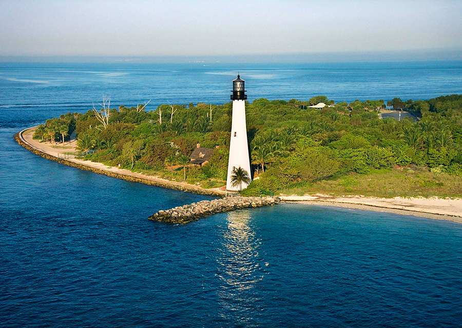Bill Baggs Cape Florida State Park on Key Biscayne in Florida