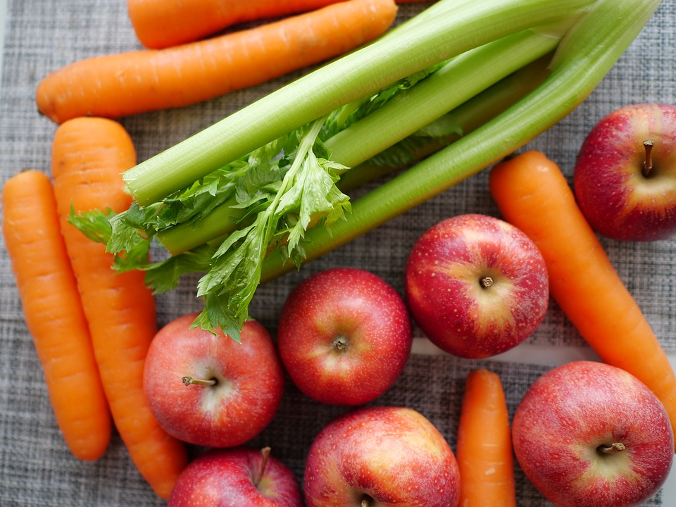 Carrots, Celery, and Apples